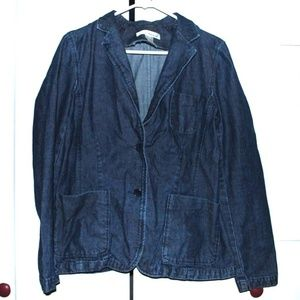 Jones New York Sp Women Size M Overszd Jean Jacket